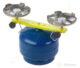 Vařič plynový 2-hořákový MEVA PICAMP přímotlaký 2136-Dvouhořákový vařič ( campingový vařič ) na propan-butan, barva BÍLÁ