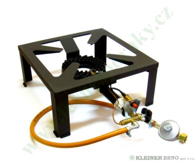 Vařič plynový 1-hořákový 7 kW MEVA MEGA ZEUS, POJISTKA+PIEZO nízkotlaký 2102TP(2102TP)
