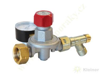 "Regulátor tlaku propan-butan ( PB ) 0,5-4 bar, 10 kg/h, výst. G3/8""L MEVA 4498(4498)"