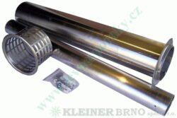 Výdech ( odtah ) 1000 mm VAFKY KVART-CZ-Kompletní odtah k topidlům VAFKY do tloušťky zdi 1000 mm