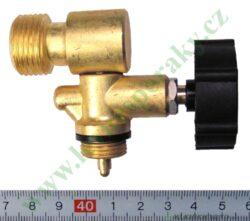 Ventil W21,8L ( levý závit ), boční vývod MEVA 2156UVB-Ventil na 2 kg láhev propan-butanu určený pro namontování regulátoru tlaku plynu. Pro připojení na tlakovou lahev 2 kg s výstupním závitem W 21,8 L. Rozměry - 70 x 55 mm