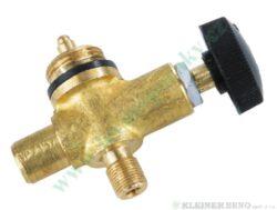 Ventil jednocestný MEVA 2157-Pro připojení na tlakovou lahev 2 kg s výstupním závitem M9 x 0,75.