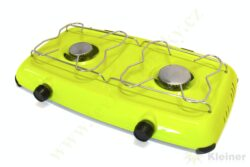 Vařič plynový 2-hořákový MEVA ORLÍK - bez víka, nízkotlaký 2317B-Dvouhořákový stolní vařič ( campingový vařič ) na propan-butan