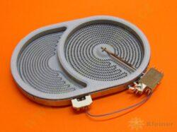 Těleso topné sálavé DUO 220/1400W 265x170 VC ( shodné s 607620 )-EGO 10.57413.604