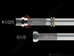 Hadice 1,0 m Flexira xConnect Gas Standard (plyn i voda) R1/2(T)-G1/2