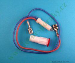 Kontrolka + kabl 4CE-56.. červ. V. ( zrušeno bez náhrady )