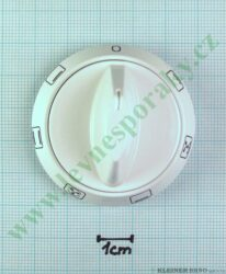 Knoflík 0+6F hranatý bílý KGE3464B, 6CF-56VMB ( zrušeno bez náhrady )
