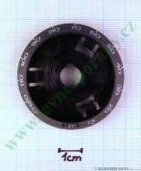 Podložka pod knoflík minutky N tmavá v=16 mm ( zrušeno bez náhrady )