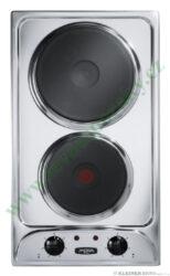 MORA VDE 310 X  deska vestavná, 2 plotýnky litina ( 1 rychlovarná), nerez-Vestavná elektrická varná deska samostatná o šířce 29 cm