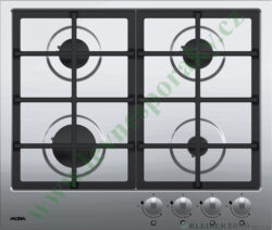 MORA VDP 645 X2 - deska plynová, 4 hořáky, NEREZ-Plynová vestavná deska