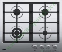 MORA VDP 665 X PREMIUM - deska plynová, 4 hořáky, NEREZ-Plynová vestavná deska